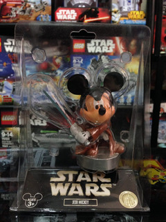 Star Wars Jedi Mickey Luke Disney Star Tours Bobble Head