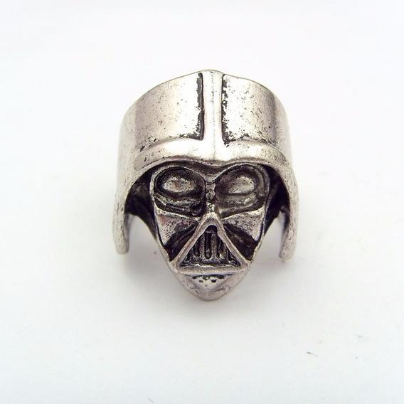 Anel Maculino Star Wars Darth Vader Punk De Máscara