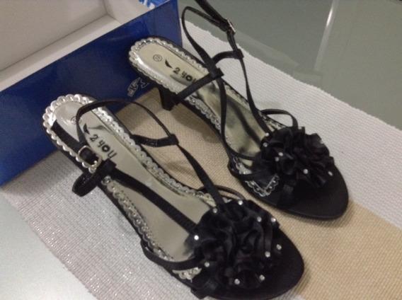 Zapatos Fiesta Dama Negros Talla 39