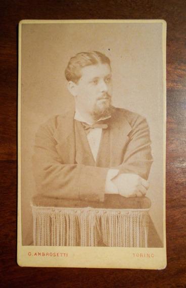 Fotografia Antigua Carte De Visite Italiana Ambrosetti 1870