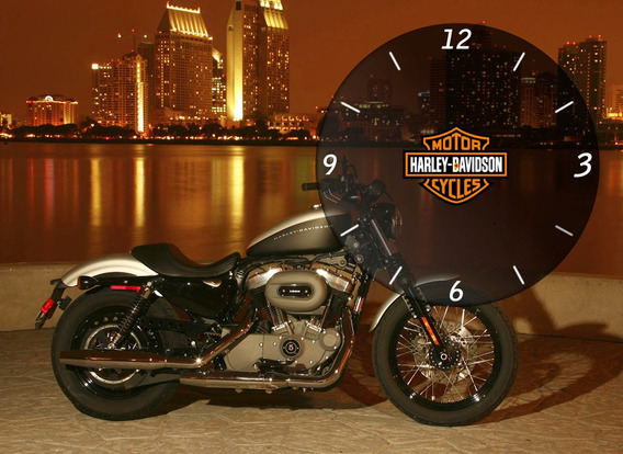 Quadro Relógio Parede Whisky Bebidas Enfeite Harley D.