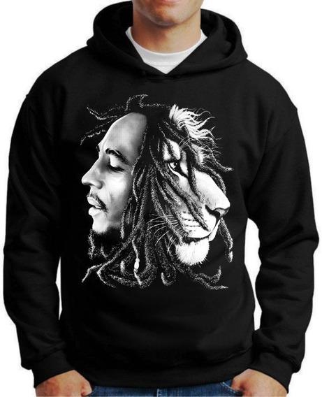 Blusa Moletom Personalizada Bob Marley