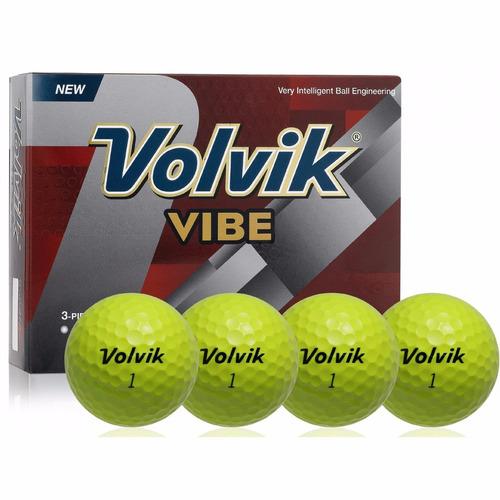 Imagen 1 de 2 de Pelotas Golf Volvik Vibe, 12 Pz. Color Amarillo.