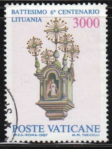 Vaticano 1987 Impecable Sello Yvert Nº 808 Usado
