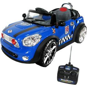Carro Elétrico Controle Remoto Mini Coupé Azul Conversível