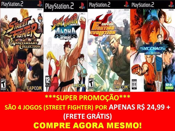 Street Fighter Alpha Anthology Ps2 (4 Jogos Play Station 2