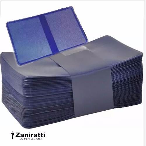 Carteirinha Para Foto 3x4 100 Unidades - Cor Azul