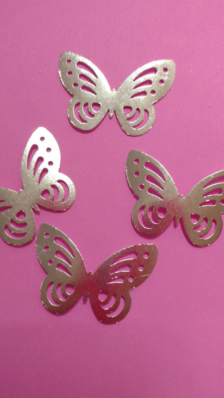 Mariposas Troqueladas Metalizad X30 Scrap Candy Cumple Souv