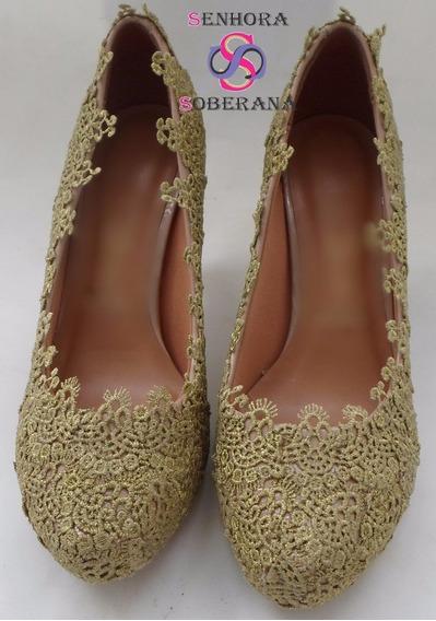 Sapato Dourado Personalizado (festa) (noivas)