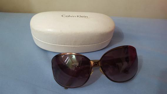 Óculos Escuros Calvin Klein Marrom