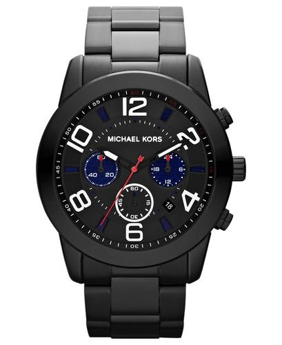 Relógio Michael Kors Mk8291 Mercer Orig Chron Anal Black