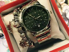 Lindo Relógio Luxo Vem Na Caixa C Pulseira,resistente A Água