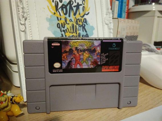 Battletoads E Double Dragon Cartucho Snes Super Nintendo