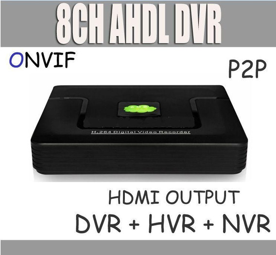 Dvr 8 Ch Ip+anal.960h Hibrido Ahdl Cctv Dvr D1720p + Cloud