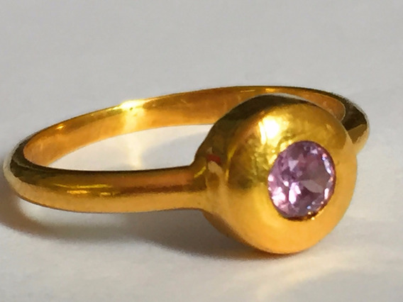 Anel Em Ouro18k-3.1gr. Com Pedra