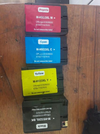 Kit Com 4 Cartuhos 932/933 Xl Para Hp7110/7610/6100/6600
