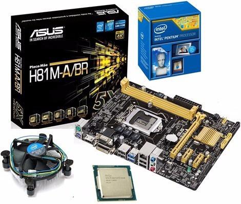 Kit Asus H81m-a/br + Dual Core G3250 3.2ghz + 8gb Vengeance