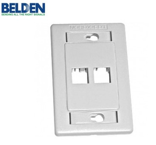 Placa De Pared Belden 2 Puertos Blanco Ax101433