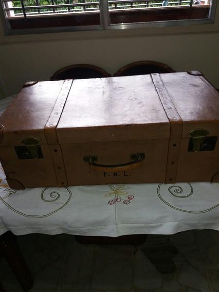 Valija Antigua En Cuero Moynat Francesa Deco