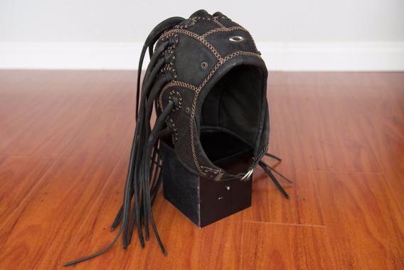 Oakley Medusa Head Gear Couro Preto Small/s Capacete Raro