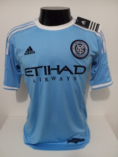 Camisa New York City Home 15-16 David Villa 7 Patch Mls Imp