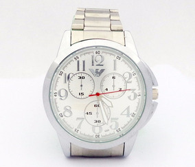 Relógio Georgio Armani - Prata - Garantia De Fábrica