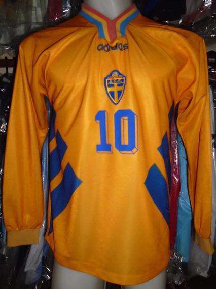 Camiseta Fútbol Selección Suecia Mundial Usa 1994 Dahlin #10