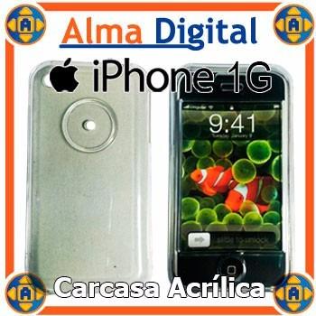 Carcasa Acrilico iPhone 1 Apple Estuche Protector Plastic 1g