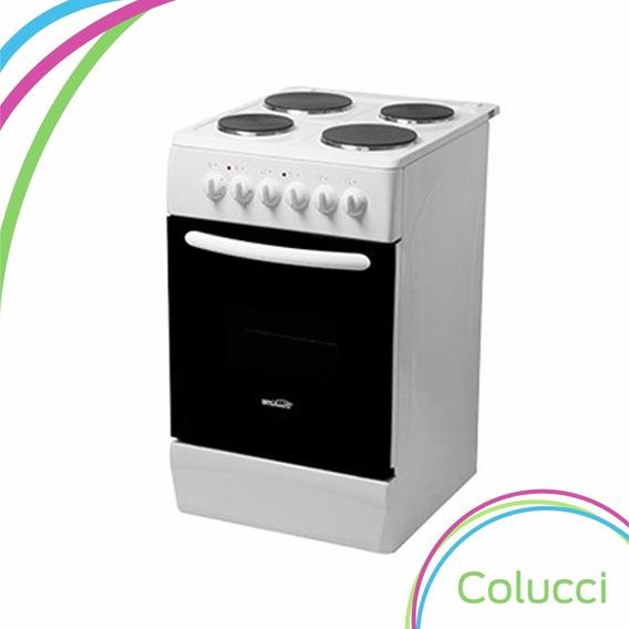 Cocina Electrica Brogas 4 Hornallas Y Horno 50 Cm Timer Cuot