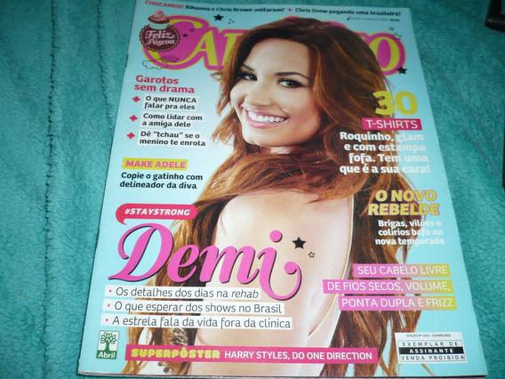 Revista Capricho Com Demi Lovato Capa E Reportagem, Mar/12