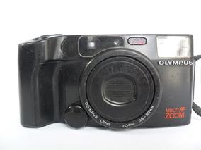 Câmera Máquina Fotográfica Antiga Olympus Az 200 Zoom Coleçã