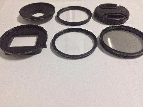 3 Filtros Bower 52mm + Adaptador + Para Go Pro Hero 3 E 4
