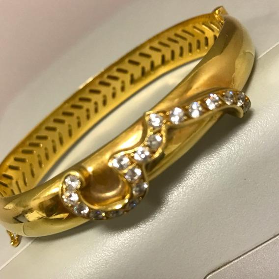 Pulseira Em Ouro 18k-750 Com Diamantes - Peso 24 Gr