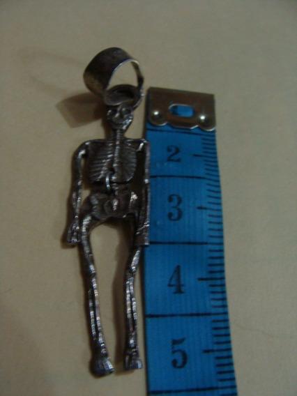 Excelente Dije Esqueleto De Plata, Muy Bonito,usado