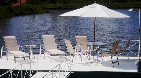 Conj. Completo 2 Chaises + Mesa Com 4 Cadeiras + Ombrelone