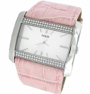 Reloj Guess Modelo G85790l Cristales Swarovski Piel Original