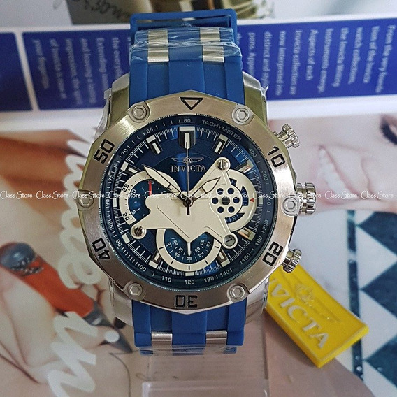 Relógio Invicta 22796 Pro Diver 50mm Azul Cronógraf Original