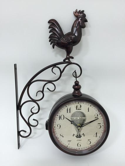 Lindíssimo Relógio De Parede Em Metal 40x30 F345