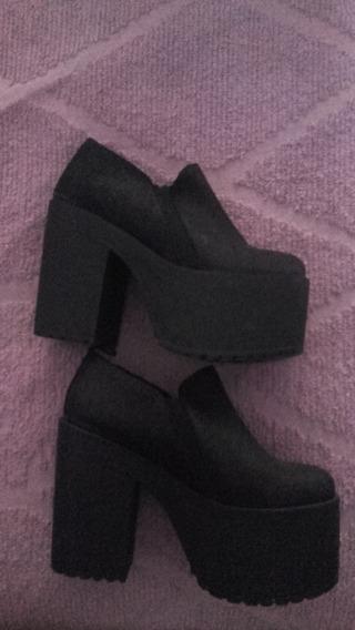 Zapatos Nuevos Nobuk Negro New Factory