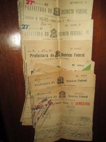 15 Recibos Imposto Predial Rio De Janeiro 1928/35