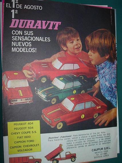 Clipping Publicidad Juguetes Duravit Modelos Autos Mod2