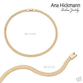 Conjunto Gargantilha+pulseira Coleção Ana Hickmann 13º Ediçã