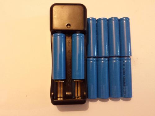 Imagen 1 de 4 de 10 Baterías 14500 De 3.7 V Con Cargador Doble