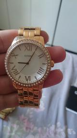Relógio Guess Feminino Dourado Com Pedras