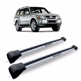 Travessa Rack Teto Pajero Full Aluminio Larga Prata