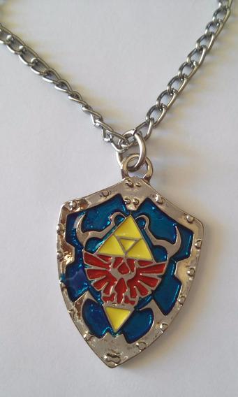 Colar Cordão Game Zelda Escudo Link