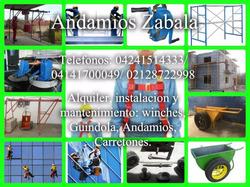 Alquiler De Guindolas,guinches Y Carretones Para Construccio