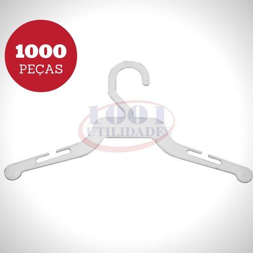 Kit 1000 Cabide Infantil Bebê Descartável Lavanderia Plástic