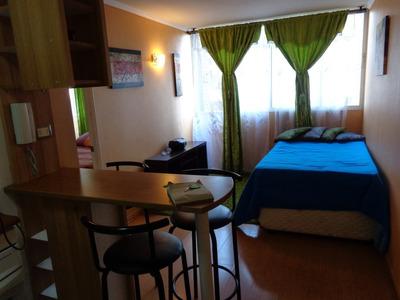 Renta Apartamento Amoblado Stgo, Metro Sta Lucia X Mes Y Año