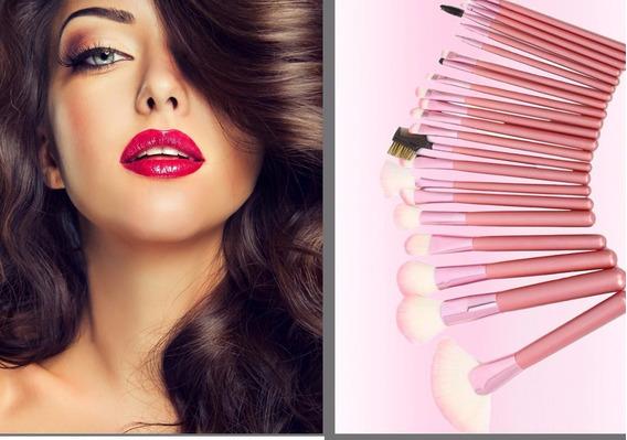 Brochas Maquillaje Profesional Set 22 Piezas Ofertas Bolw*